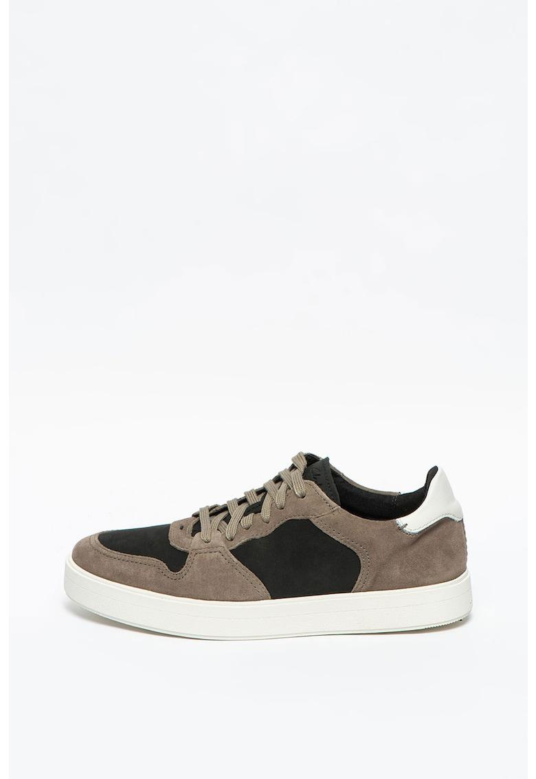 Pantofi sport de piele intoarsa - cu model colorblock Hero Jump imagine promotie
