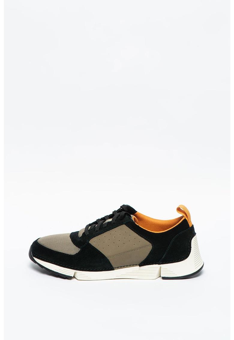 Pantofi sport de piele intoarsa cu insertii de plasa Tri Sprint imagine promotie