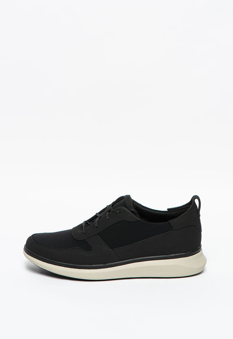 Sneakers - Pantofi sport cu insertii din piele nabuc UN-GLOBE imagine promotie