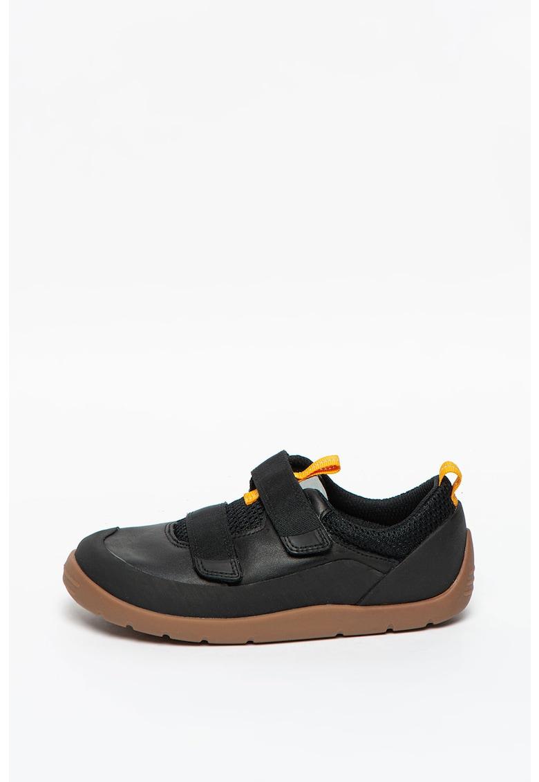Pantofi sport din piele si plasa cu inchidere velcro Play Trail imagine promotie
