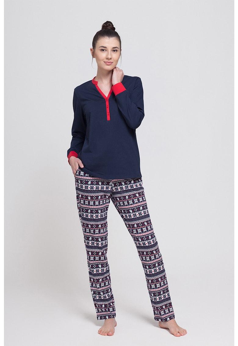 Pijama cu fenta cu nasturi Tradition