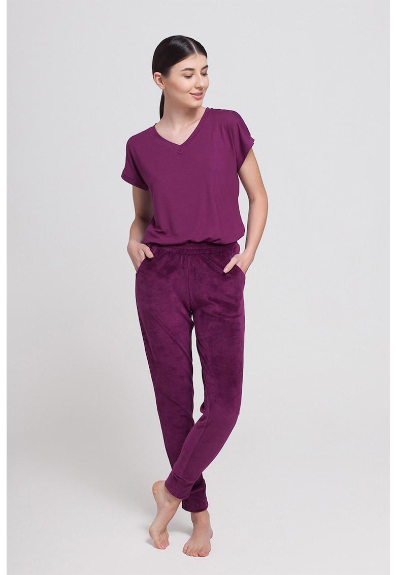 Pantaloni de pijama de catifea