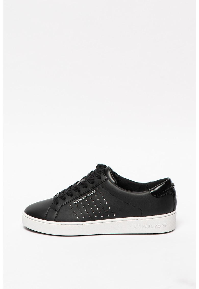Pantofi sport de piele cu nituri Irving Michael Kors fashiondays.ro