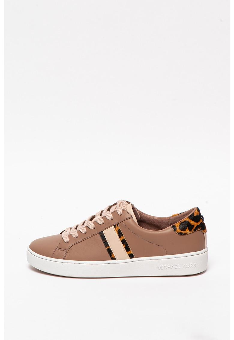 Pantofi sport cu garnituri din piele cu par scurt Irving Michael Kors fashiondays.ro