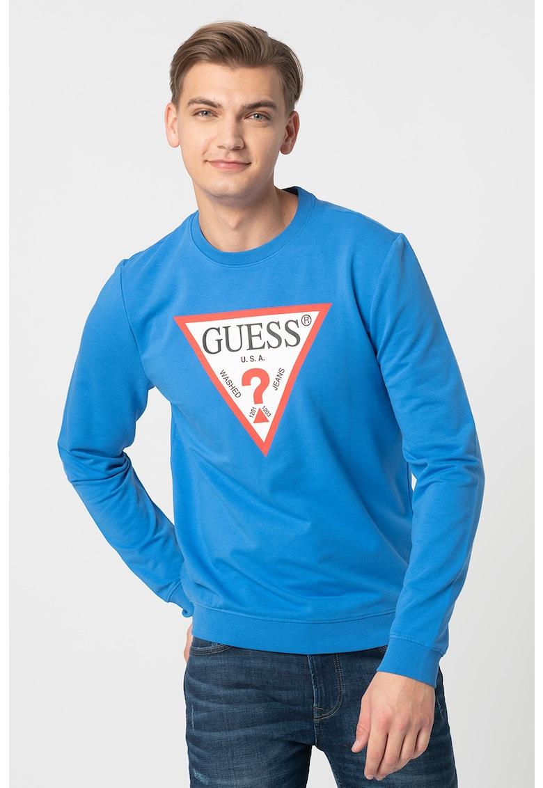 Bluza sport slim fit cu decolteu la baza gatului