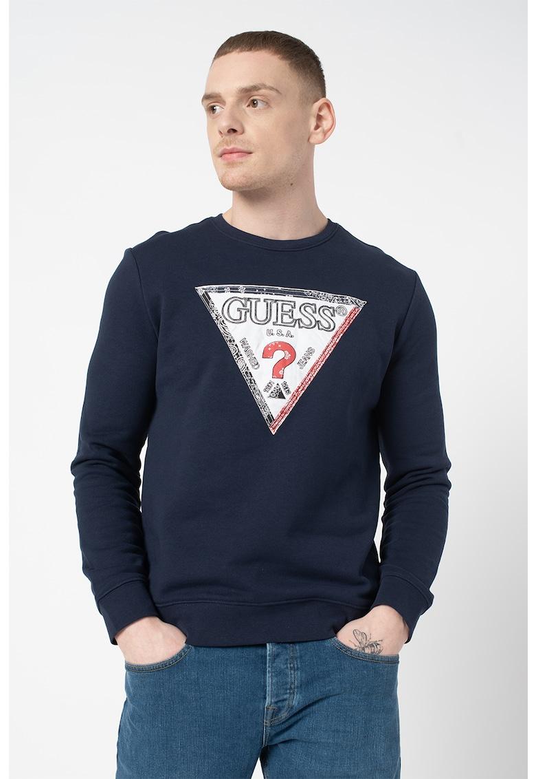 Bluza sport slim fit cu logo triunghiular