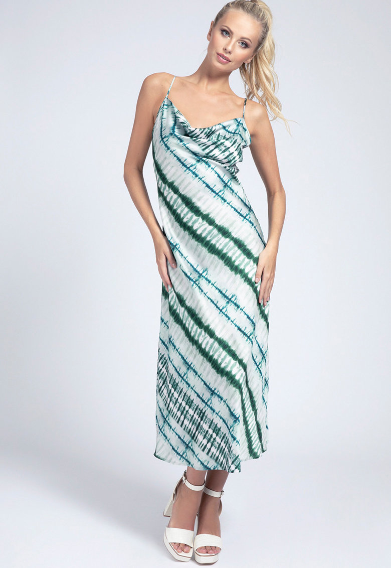 Rochie midi cu model tie-dye