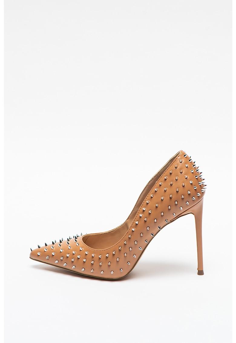 Pantofi stiletto de piele ecologica cu tinte Vala-S