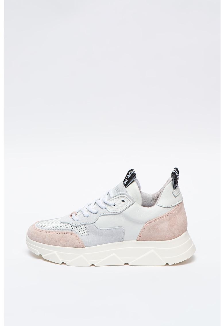 Pantofi sport de piele cu insertii de piele intoarsa Pitty