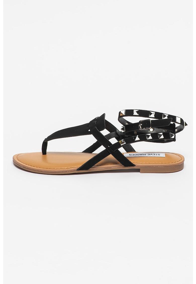 Sandale cu tinte si bareta in forma de T Sirena Steve Madden fashiondays.ro