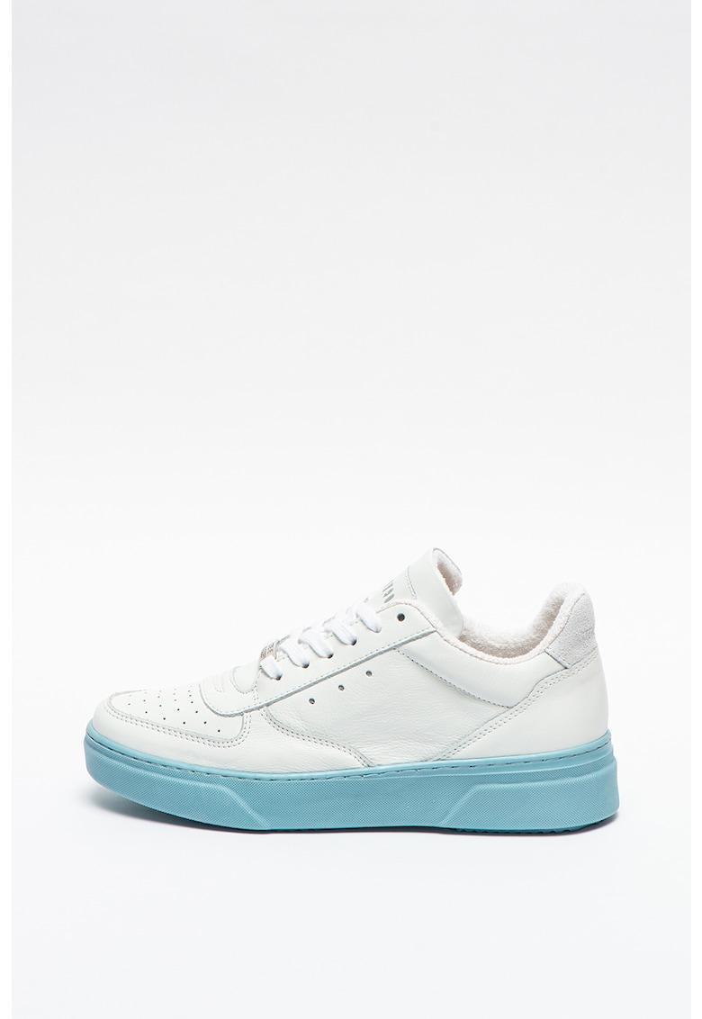 Pantofi sport de piele cu talpa contrastanta Darma