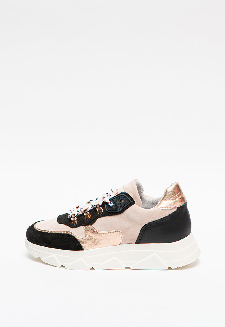 Pantofi sport colorblock cu garnituri de piele intoarsa Picante