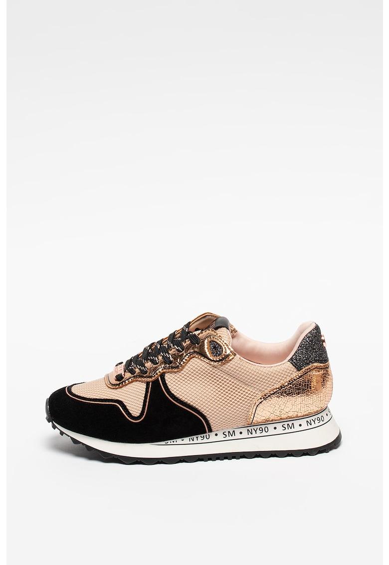 Pantofi sport cu detalii de piele intoarsa Reform
