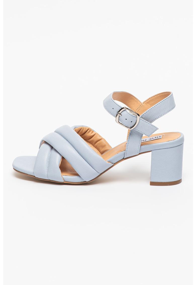 Sandale de piele cu toc masiv Keana fashiondays.ro