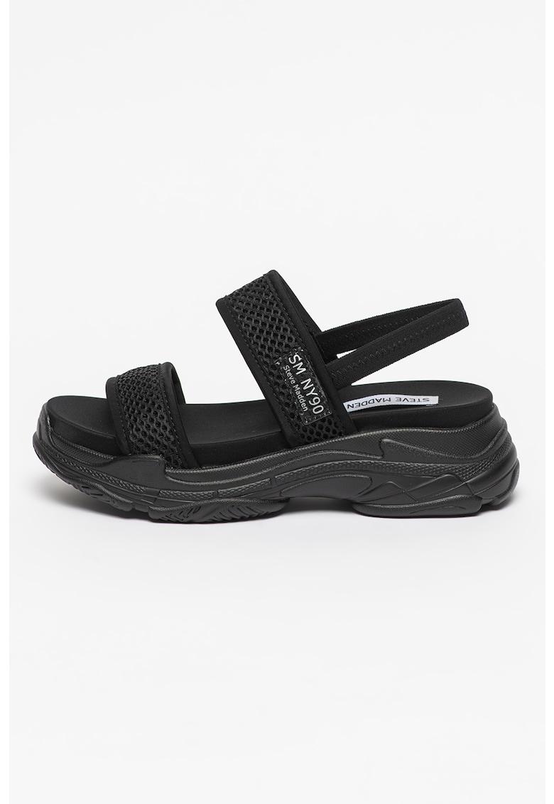 Sandale slingback cu aspect masiv Samurai Steve Madden fashiondays.ro