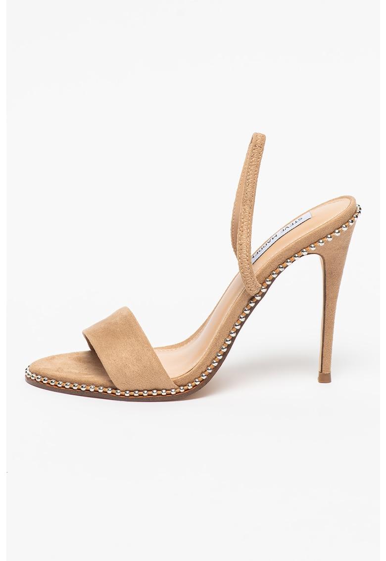 Sandale de piele intoarsa ecologica cu toc inalt Glammer Steve Madden fashiondays.ro