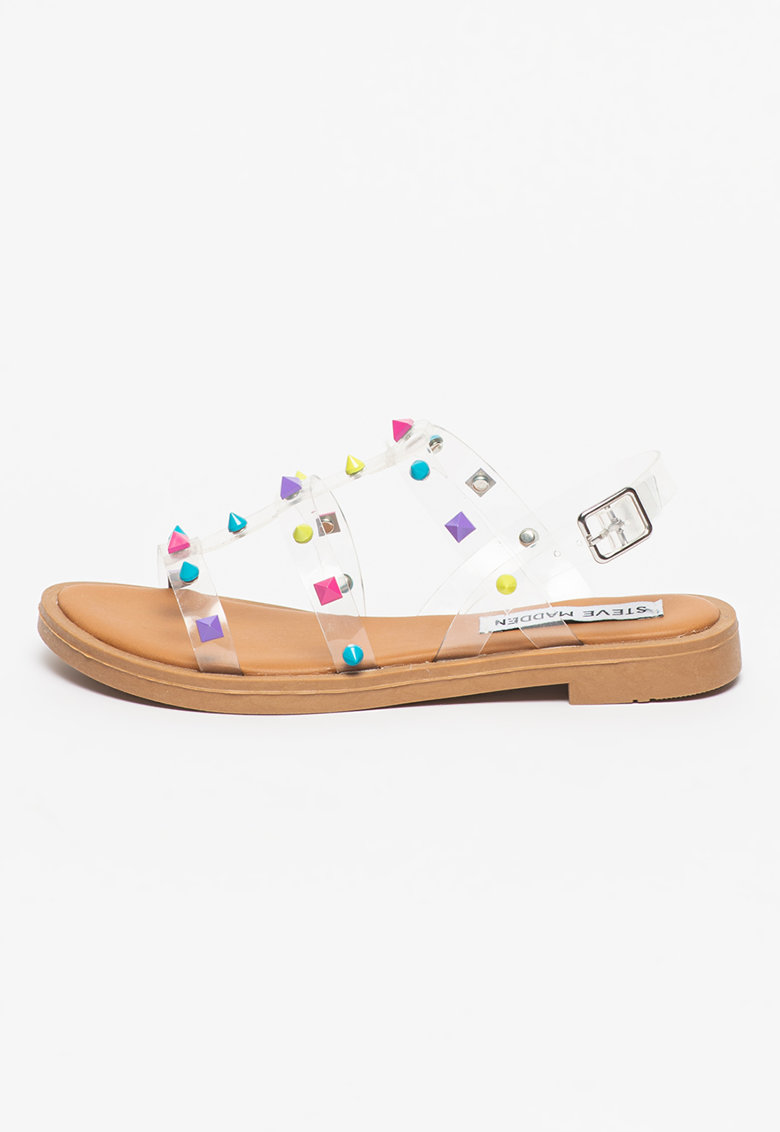 Sandale cu barete transparente si tinte Dyno Steve Madden fashiondays.ro