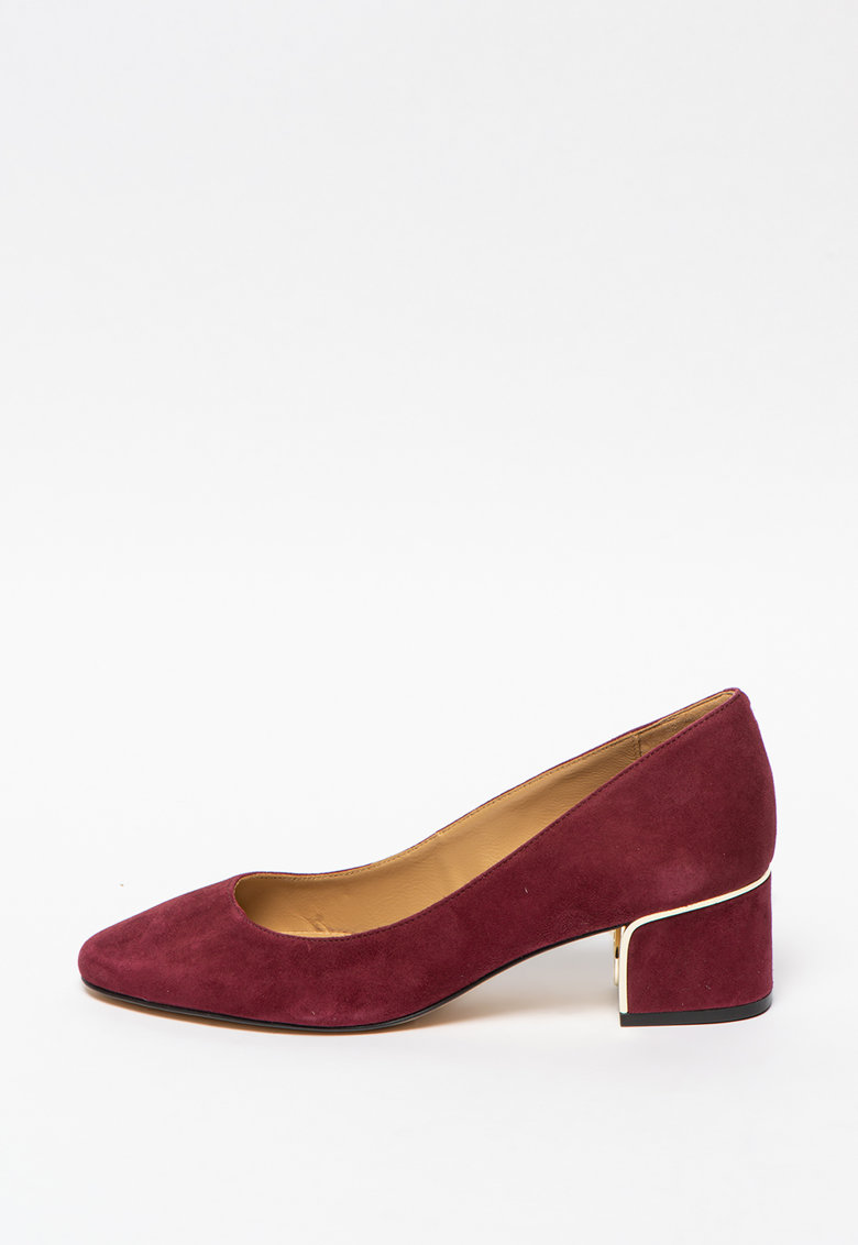 Pantofi din piele intoarsa cu varf migdalat Lana imagine