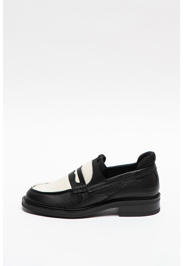 Bronx Pantofi loafer Penny de piele cu model colorblock Ivy Jazz