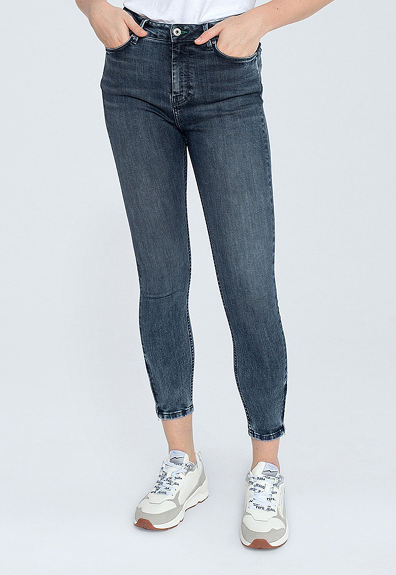 Blugi crop skinny imagine fashiondays.ro Pepe Jeans London