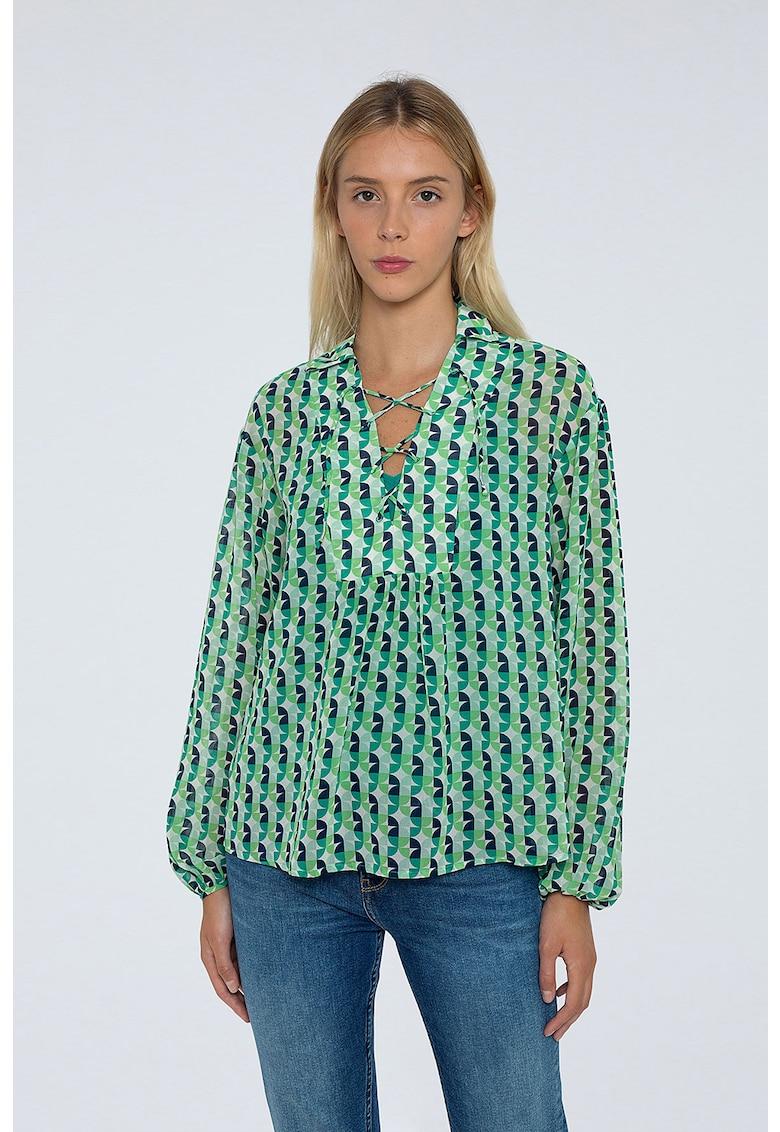 Bluza tip tunica cu model retro