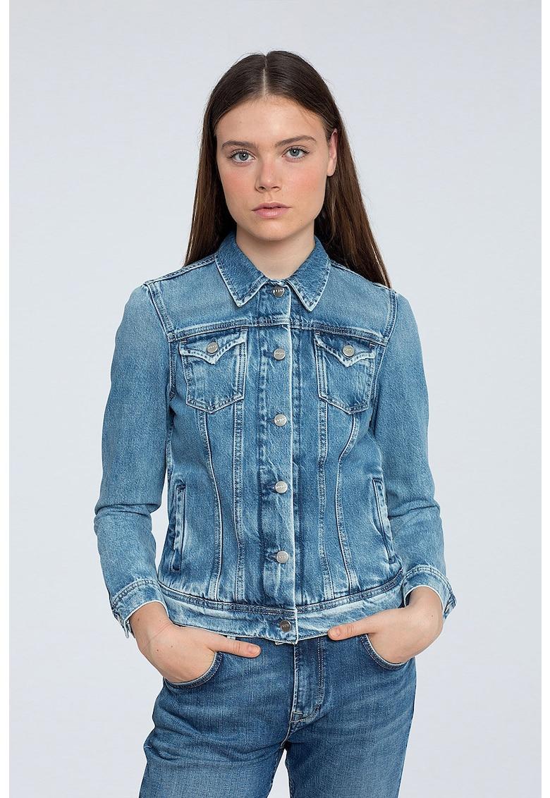 Jacheta din denim - cu aspect decolorat imagine