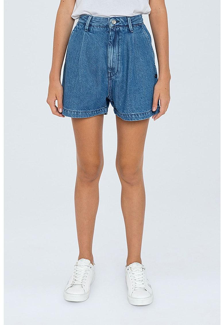 Pantaloni scurti din denim - cu talie inalta imagine