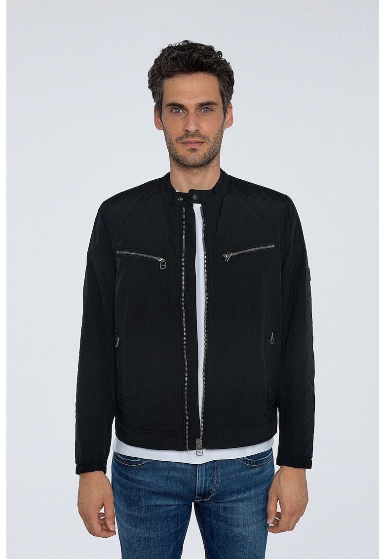 Jacheta radford din material textil - cu buzunare