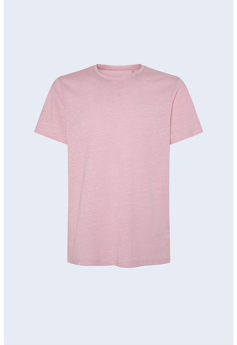 Tricou cu decolteu la baza gatului si logo discret imagine