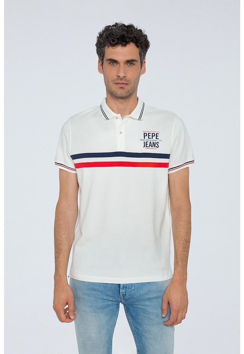 Pepe Jeans London Tricou polo regular fit cu accente cu model colorblock