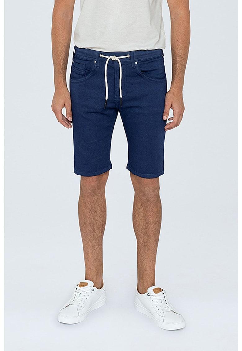 Bermude cu snur de ajustare imagine fashiondays.ro Pepe Jeans London