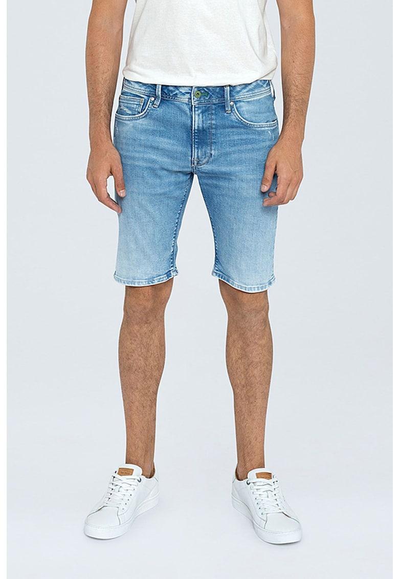 Bermude din denim cu aspect decolorat imagine fashiondays.ro Pepe Jeans London