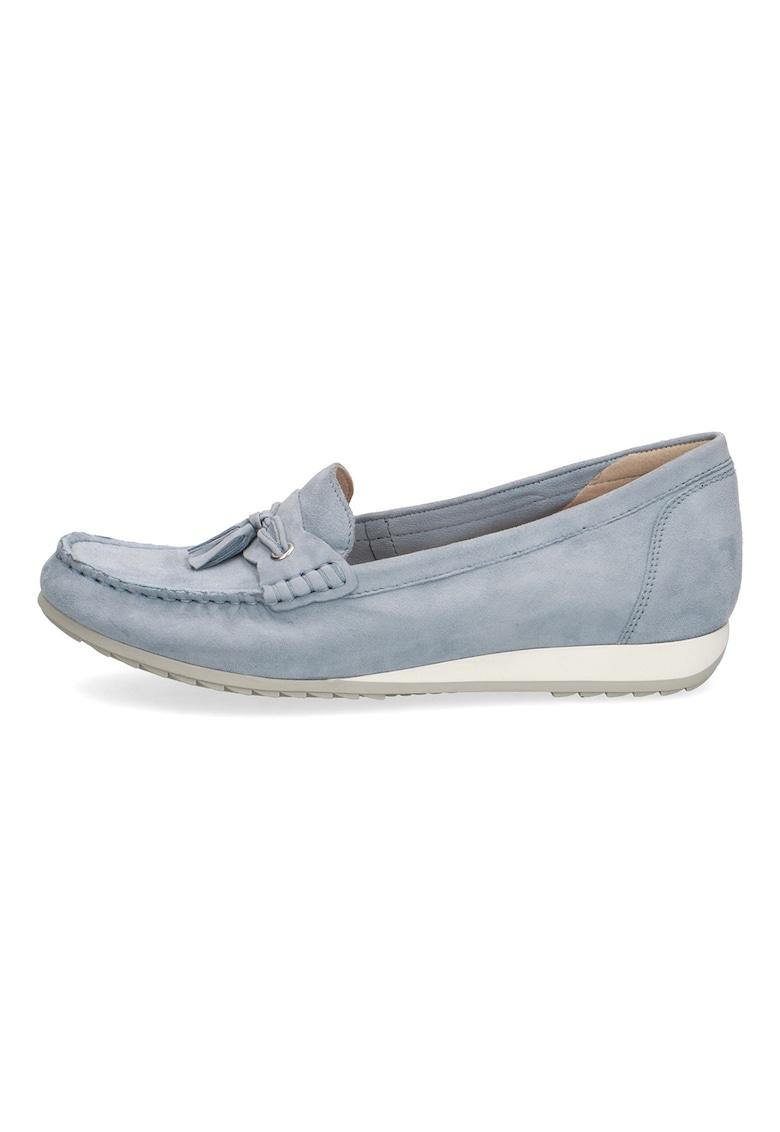 Pantofi loafer de piele intoarsa cu canaf