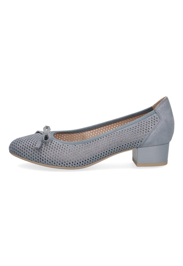 Pantofi de piele cu funda
