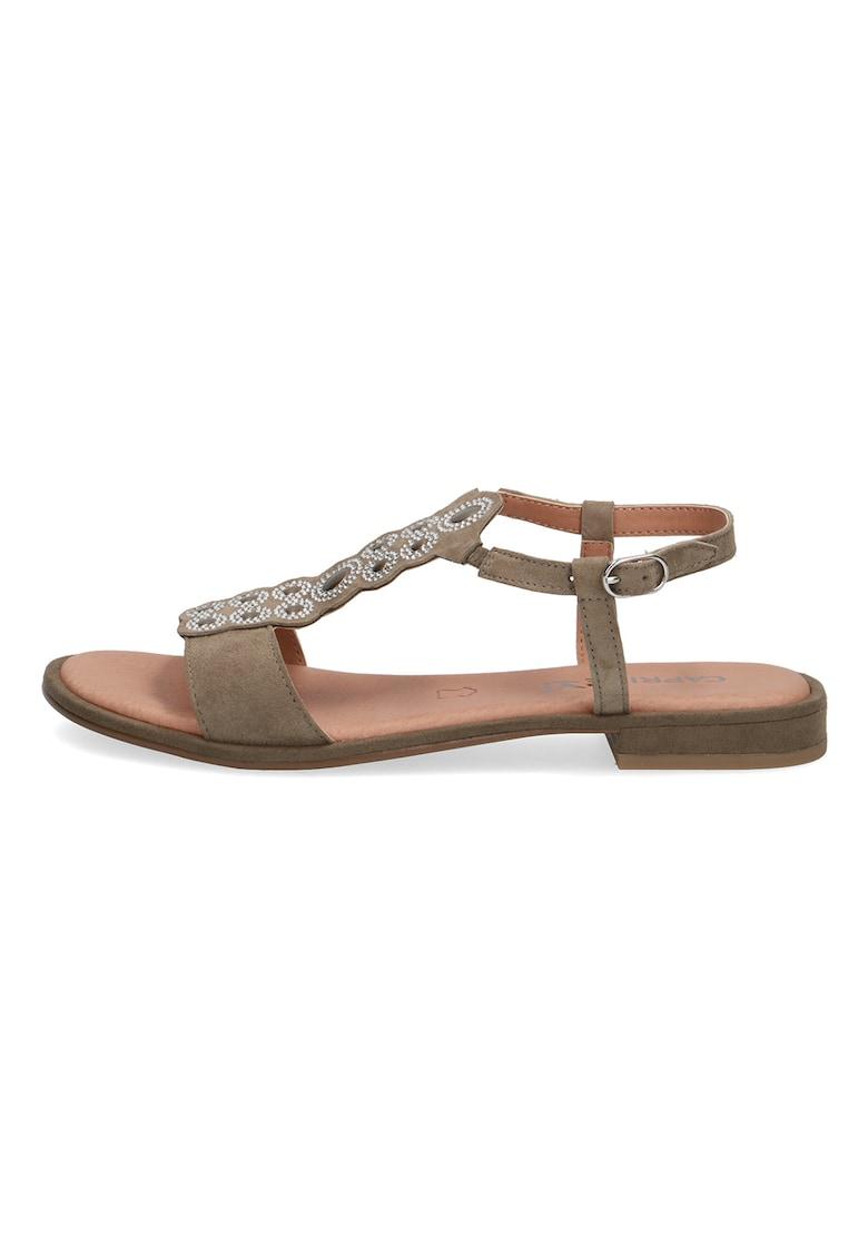 Sandale de piele intoarsa cu strasuri fashiondays.ro