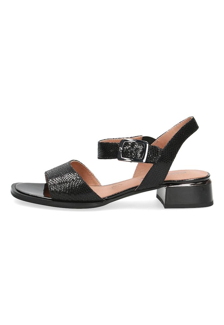 Caprice Sandale de piele cu model reptila