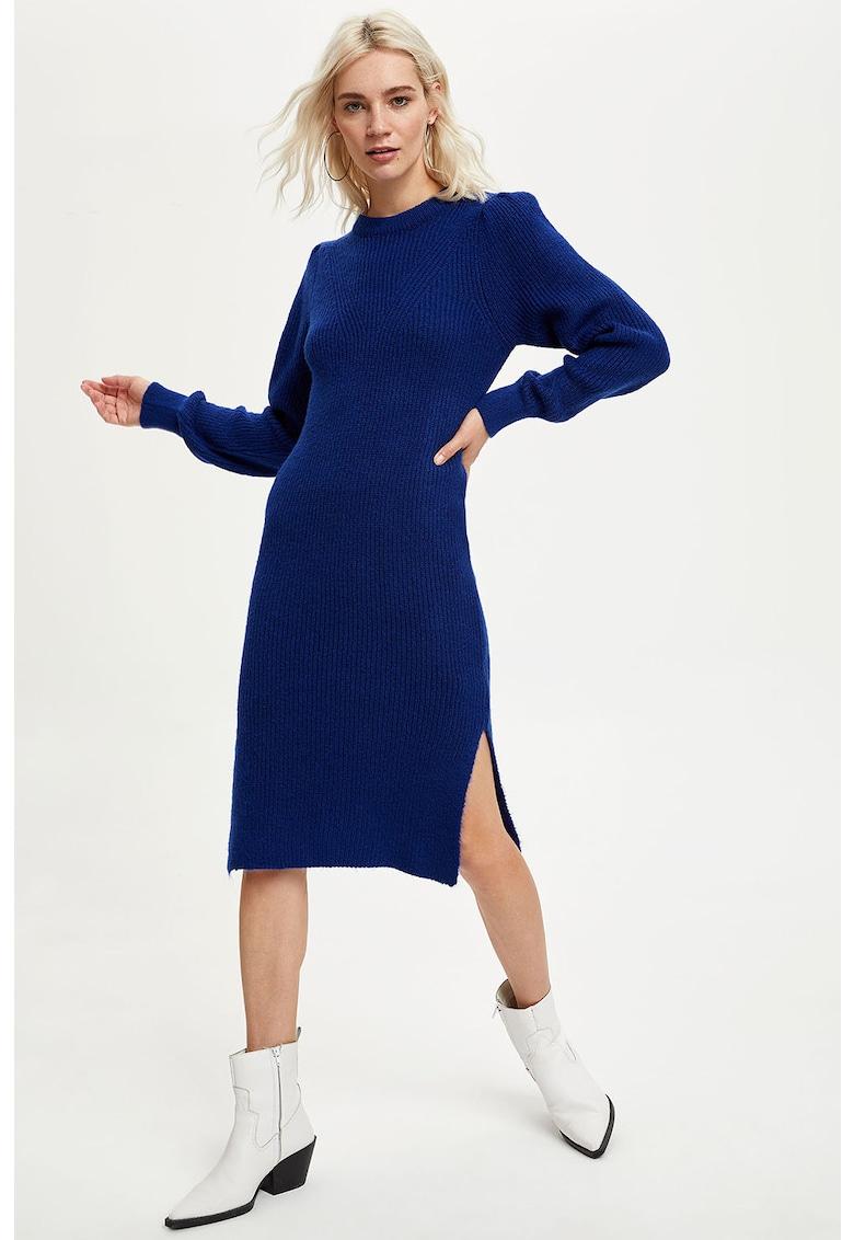 Rochie tip pulover cu slituri laterale DeFacto imagine 2021