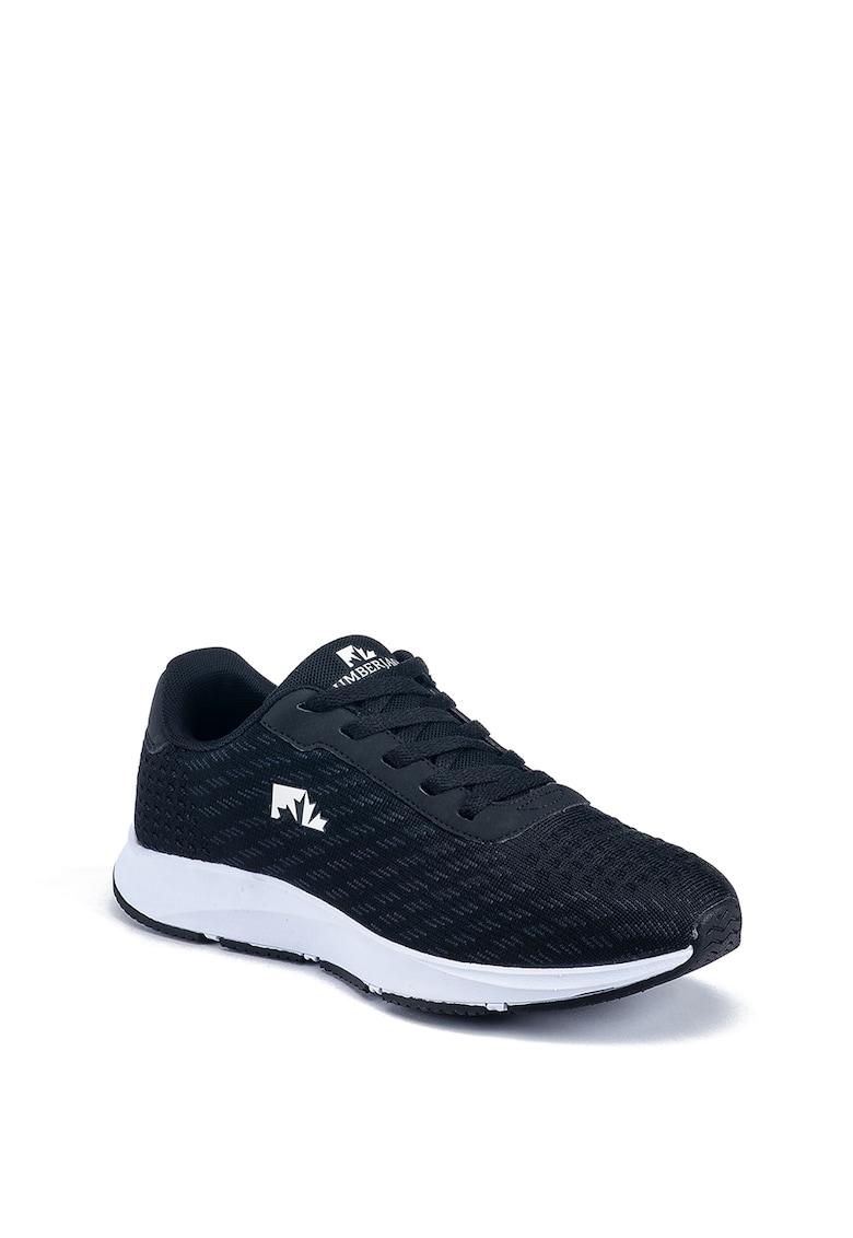 Pantofi sport din plasa si piele ecologica