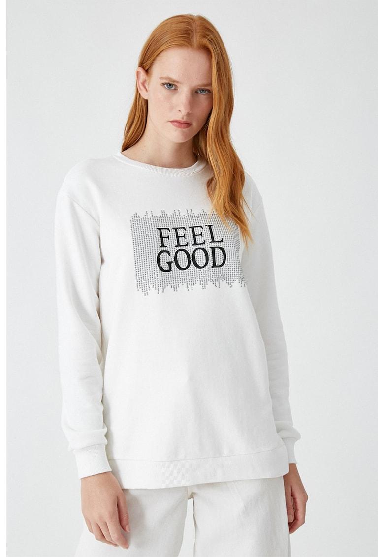 Bluza sport cu model text imagine