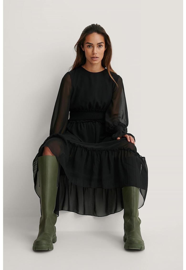 Rochie evazata cu talie elastica