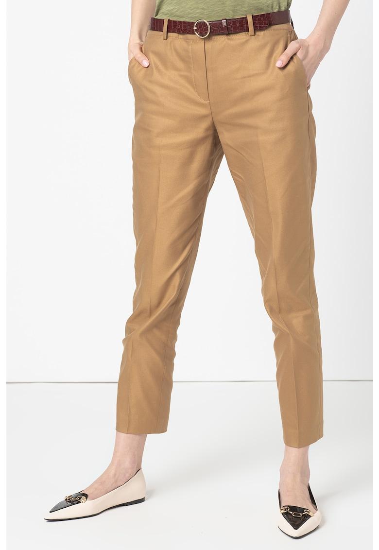 Pantaloni chino crop imagine