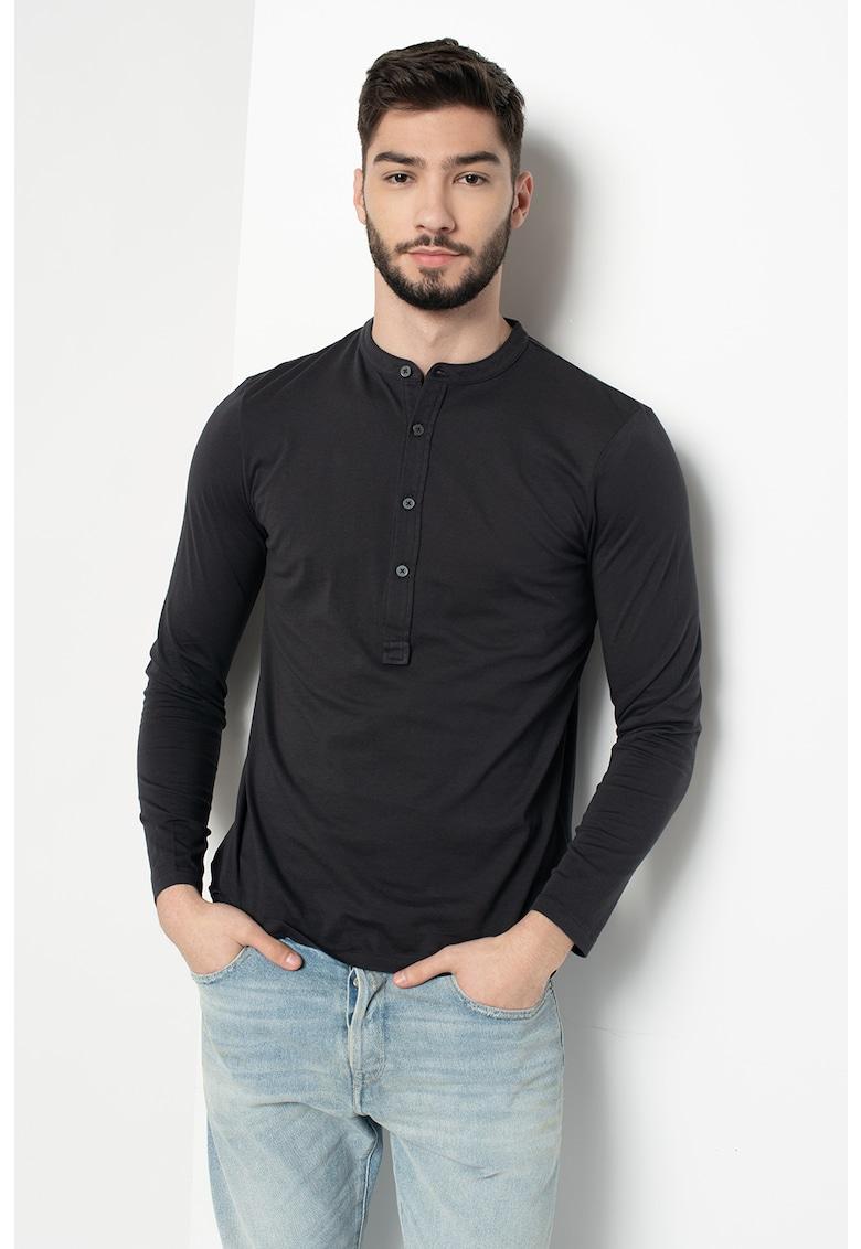 Bluza cu decolteu Henley imagine fashiondays.ro Marc O'Polo