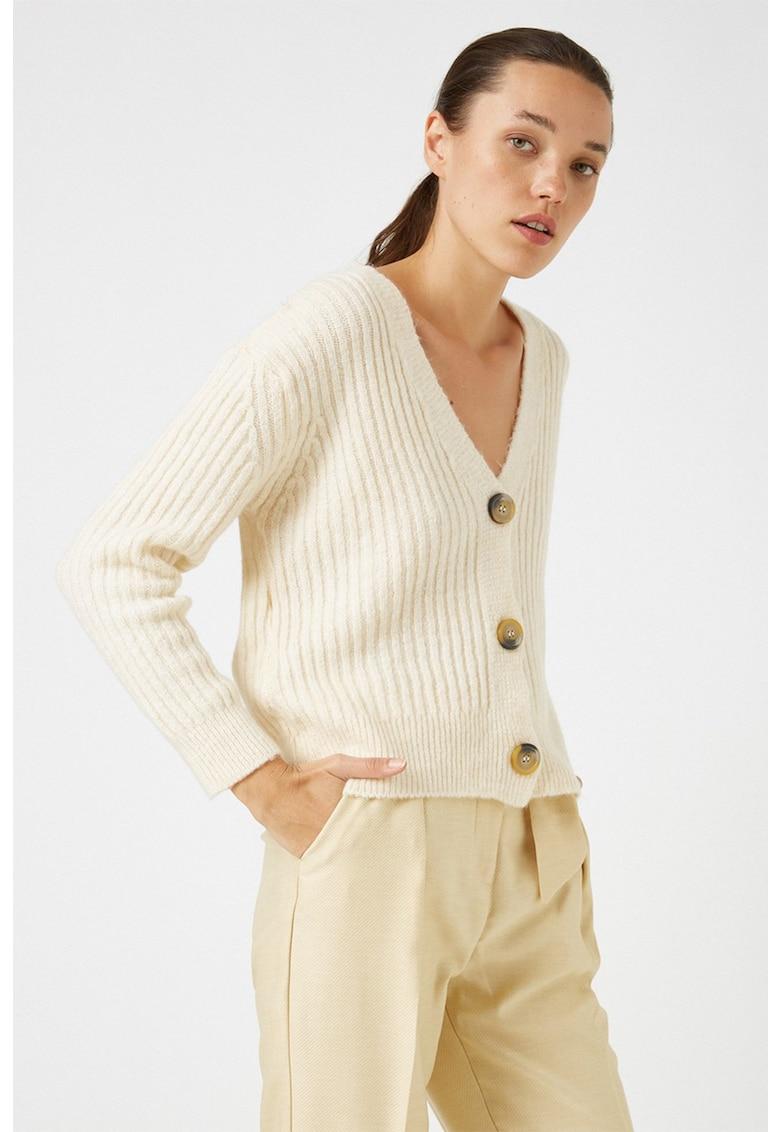 Cardigan supradimensionat tricotat cu striatii