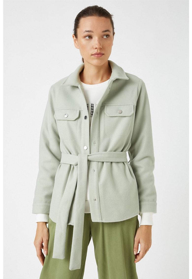 Jacheta cu cordon in talie imagine