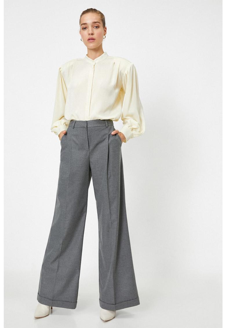 Pantaloni ampli cu talie inalta KOTON fashiondays.ro