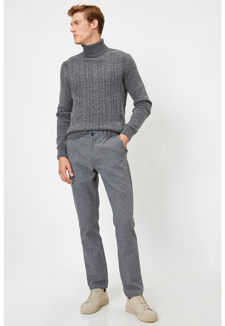 Pantaloni slim fit cu buzunare oblice imagine fashiondays.ro