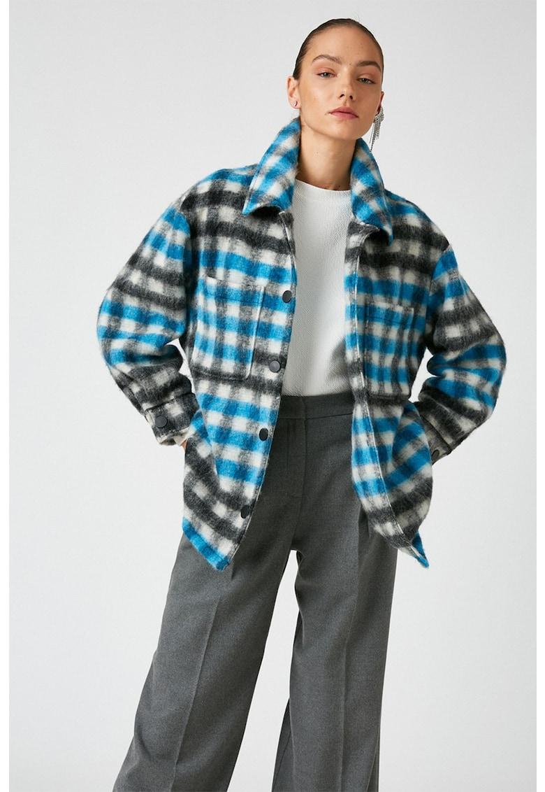 Jacheta in carouri - din amestec de lana