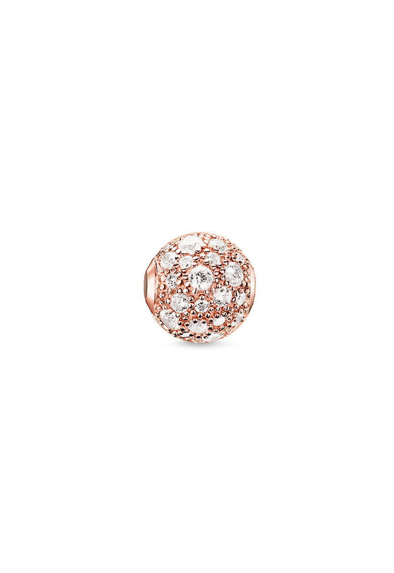 Talisman placat cu aur rose de 18K si decorat cu zirconia imagine