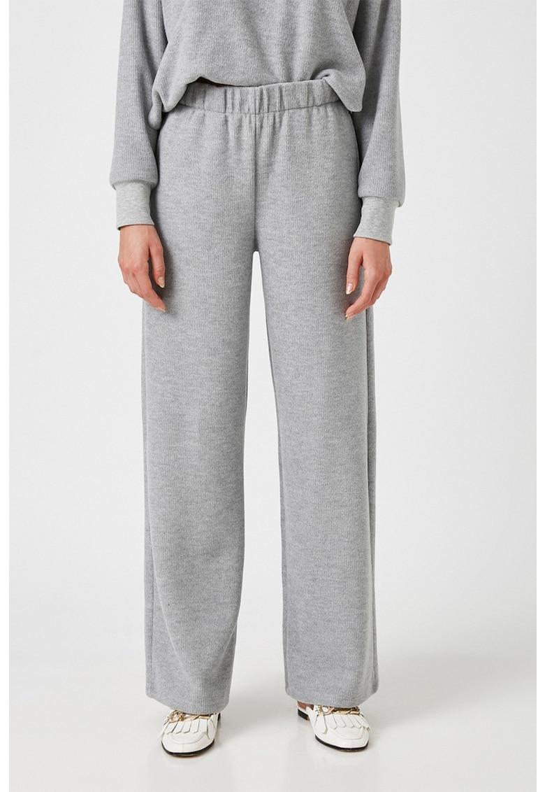 Pantaloni drepti cu talie elastica