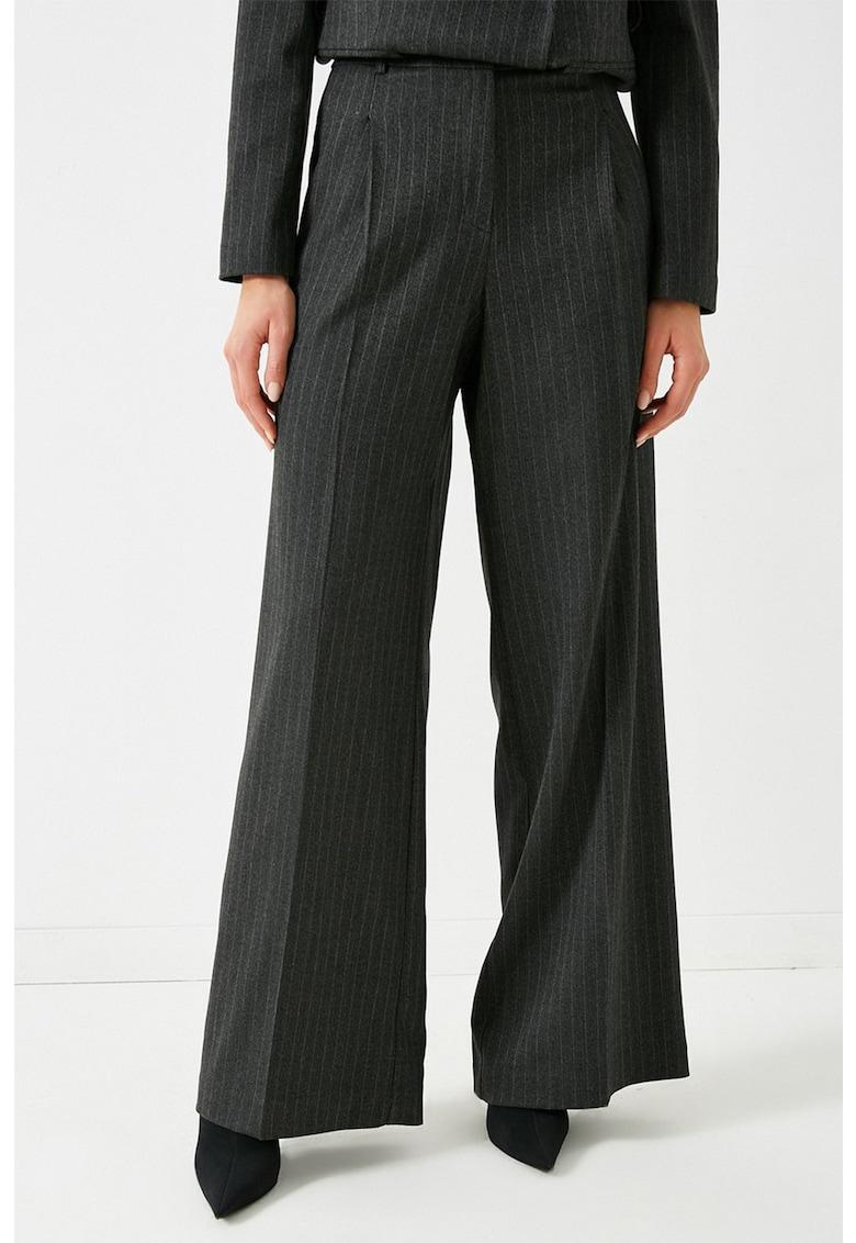 Pantaloni in dungi cu croiala ampla de la KOTON